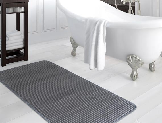 Flanel Banyo Paspası - Antrasit