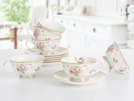New Bone China 6'lı Çay Fincanı Seti