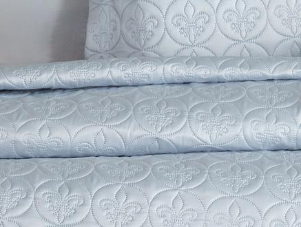 Matte Sateen Pinsonic Tek Kişilik Yatak Örtüsü Takımı - Açık Mavi