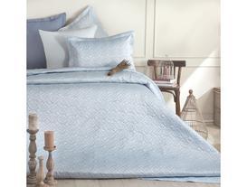 Matte Sateen Pinsonic Tek Kişilik Yatak Örtüsü Seti - Açık Mavi