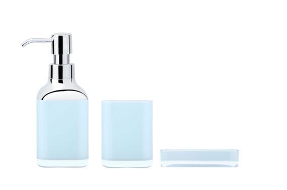 3'lü Kare Banyo Seti - Mavi