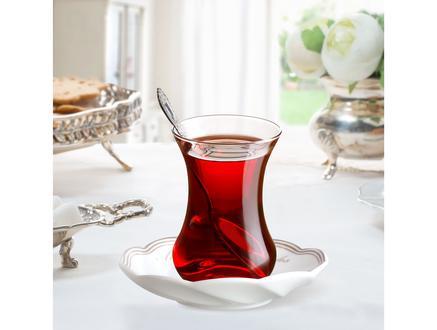 Fleur de Lis 6'lı Çay Tabağı