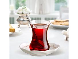 Fleur Ange 6'lı Çay Tabağı Seti