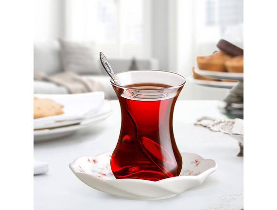 Parterre 6'lı Çay Tabağı Seti