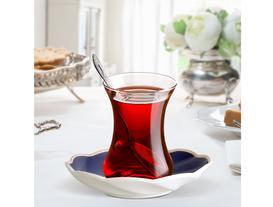 Motif 6'lı Çay Tabağı