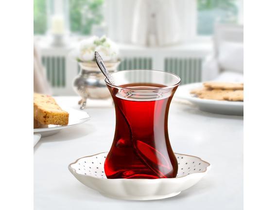 Eyfel 6'lı Çay Tabağı Seti