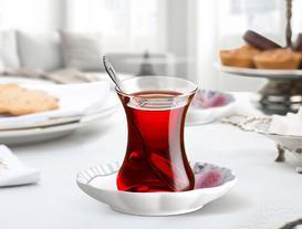 Rose 6'lı Çay Tabağı Seti
