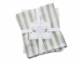 2'li Mutfak Havlusu - Yeşil / Beyaz