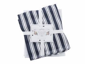 2'li Mutfak Havlusu - Lacivert / Beyaz