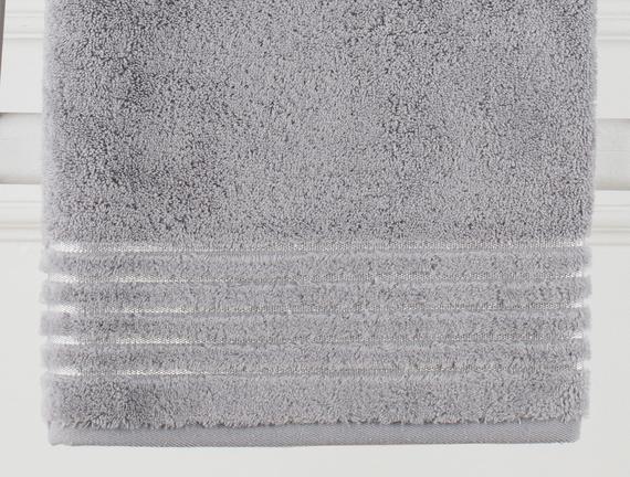 Lurex Banyo Havlusu - Gri - 90x150 cm