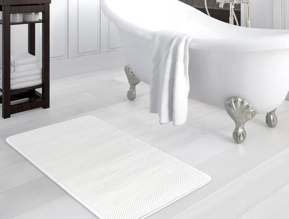 Flanel Banyo Paspası - Ekru