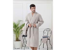 Artus Erkek Kimono Bornoz Seti - Vizon