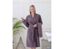 Audra Kadın Kimono Bornoz Seti - Koyu Mürdüm