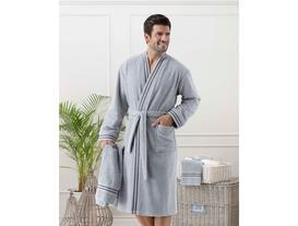 Erkek Kimono Bornoz Seti - Gri