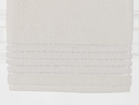 Lurex Banyo Havlusu - Ekru - 90x150 cm