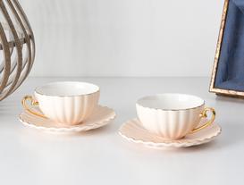 Shelley 2'li Çay Fincanı Seti - Pembe