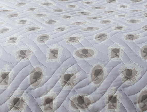 Korero Çift Kişilik Yatak Örtüsü - Mavi / Taş