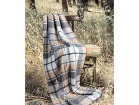 Tek Kişilik Ekoseli Pamuklu Battaniye 150x200 cm