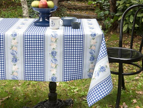 PVC Masa Örtüsü - Mavi