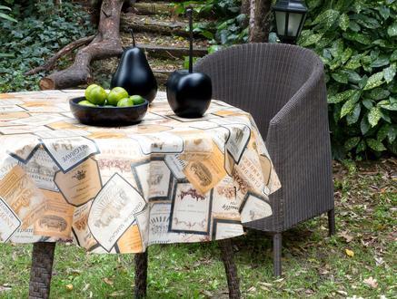 Poir Silinebilir Masa Örtüsü - Kahverengi
