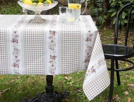 Camile Masa Örtüsü - Kahverengi