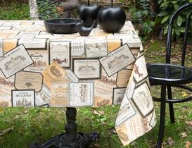 Silinebilir Masa Örtüsü - Kahverengi