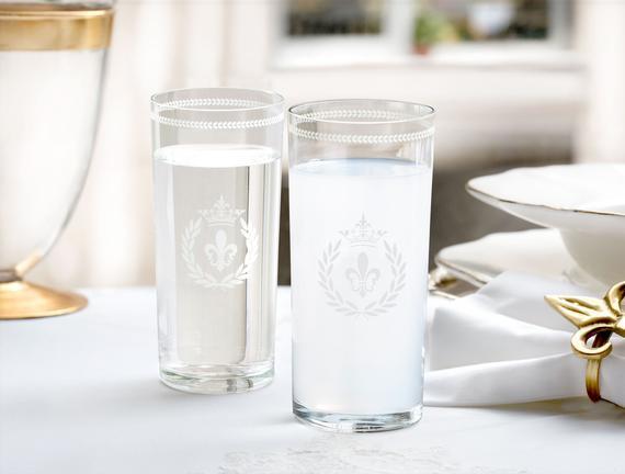 Fleur De Lys  6-Lı Meşrubat Bardağı Platin 205 ml