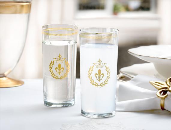 Fleur De Lys  6'lı  Meşrubat Bardağı Gold