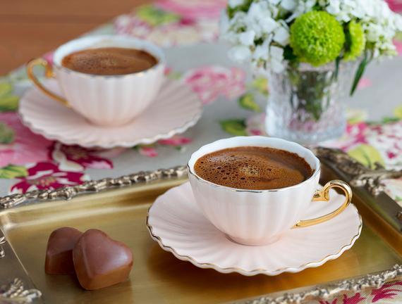 Shelley 2'li Kahve Fincanı Seti - Pembe