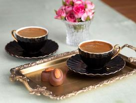 Shelley 2'li Kahve Fincanı Seti - Siyah