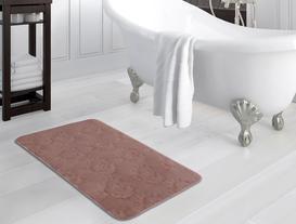 Fleur De Lys Desenli Banyo Paspası - Pudra