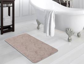 Fleur De Lys Desenli Banyo Paspası - Taş