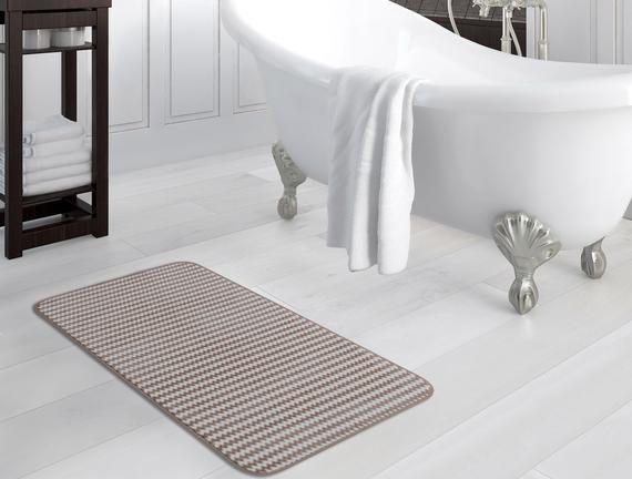 Flanel Banyo Paspası - Taş