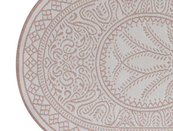 Çift Taraflı Şönil Kilim Desen-5 80X150 cm Oval