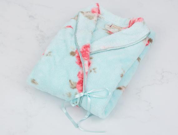 Chame Bayan Baskılı Wellsoft Kimono Bornoz