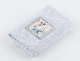 Baignoire Bleue Dijital Baskılı Nakışlı Havlu 30x46 cm