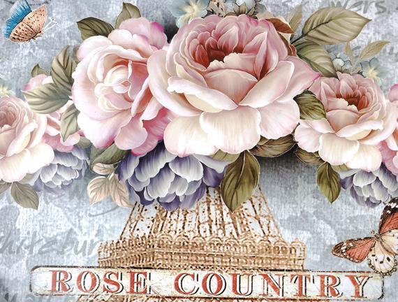 Rose Country Tepsi - Gri