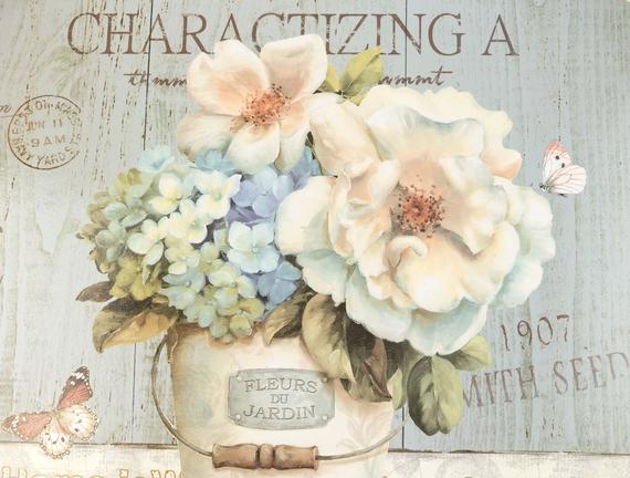 Les Fleurs Oval Tepsi - Mavi
