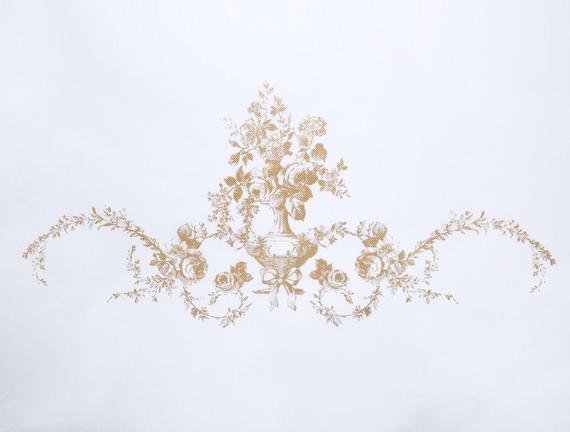 Çiçek Desen Varaklı Hurç / 30x22x18cm