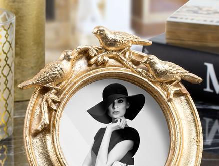 Oisseaux d'or Altın Varaklı Kuşlu Çerçeve