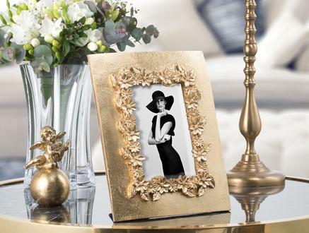 Fleurs d'or Altın Varaklı Çiçekli Çerçeve