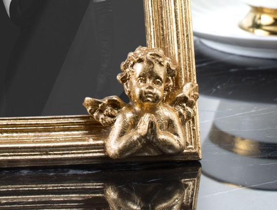 Anges d'or Altın Varaklı Melekli Çerçeve - Gold