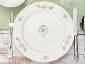 Jardin De Rose New Bone China Servis Tabağı