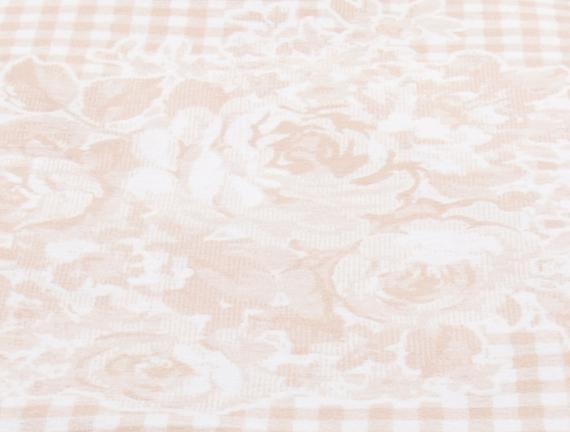 Rose / Dizlik Pamuklu Battaniye - Pudra