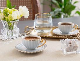 Shelley 2'li Kahve Fincanı Seti - Bej