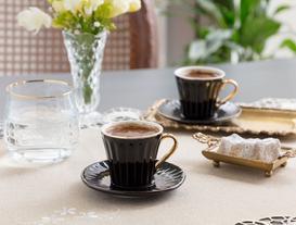 Novel 2'li Kahve Fincanı Seti - Siyah