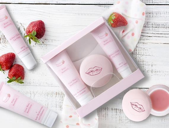 Macaron Serisi Kozmetik Seti Çilek