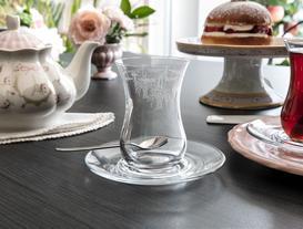 Flower Basket 6'lı Çay Bardağı
