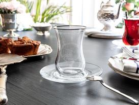 Reverans Platin 6'lı Çay Bardağı