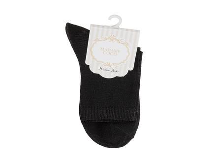 Bayan Simli Çorap - Siyah